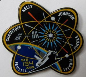 134- NASA STS-134 Official Space Mission Pin